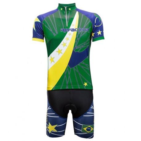 Conjunto Ciclista Star Brasil Verde - Refactor