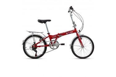 Bicicleta Dobrável 6V Flex Vermelha - Krooma