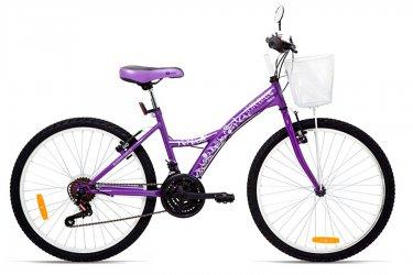 Bicicleta 24 Feminina Urban Teen Roxa - Tito
