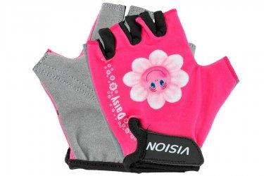 Luva Ciclista Infantil Feminina Aberta Flor 312 - Vision