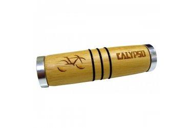 Manopla madeira Calypso Wood c/anel Polido