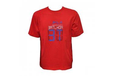 Camiseta 1/2 malha vermelha 3T