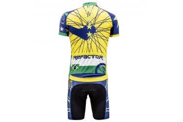 Conjunto Ciclista Star Brasil Amarelo - Refactor