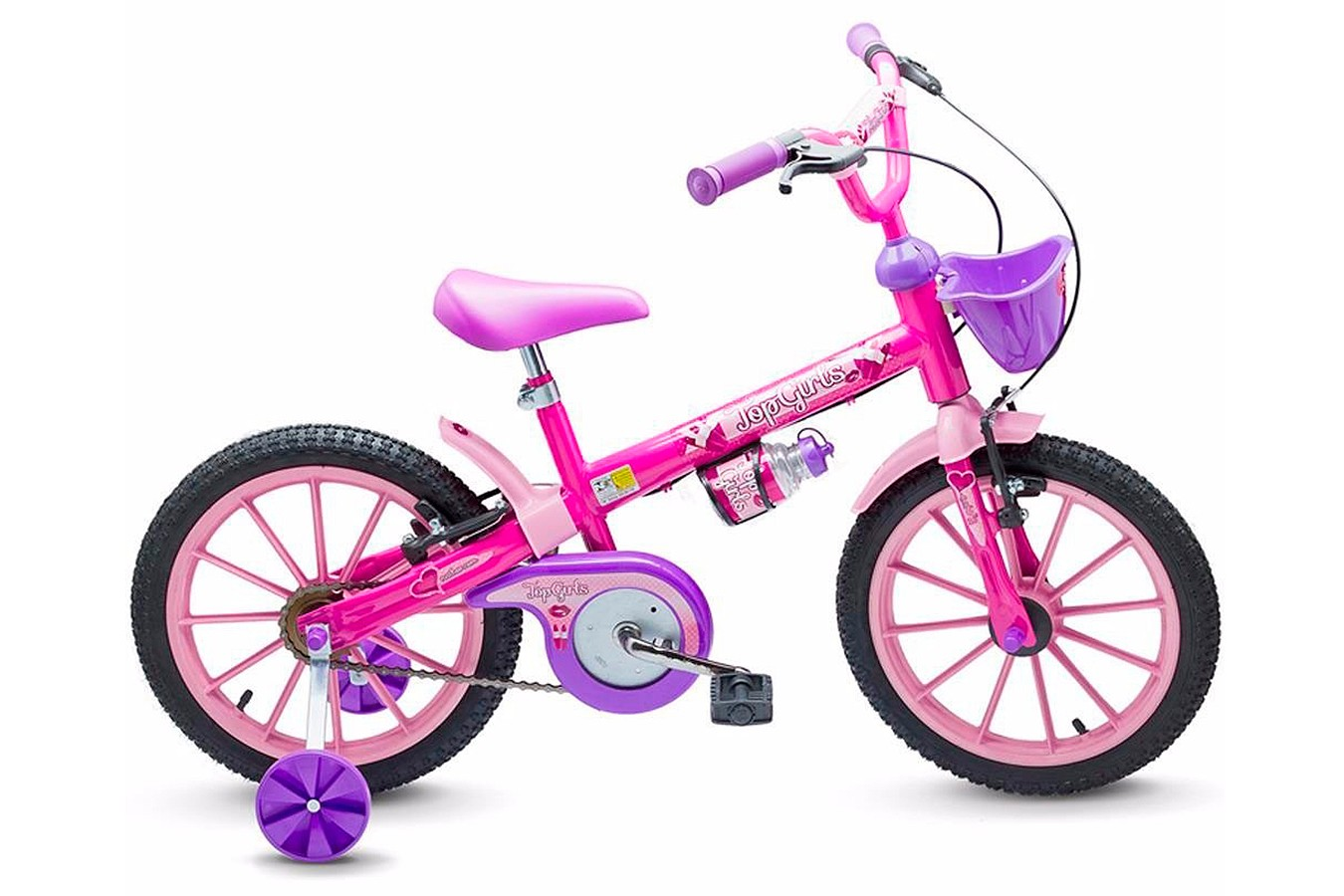 Bicicleta 16 Feminina Top Girls - Nathor