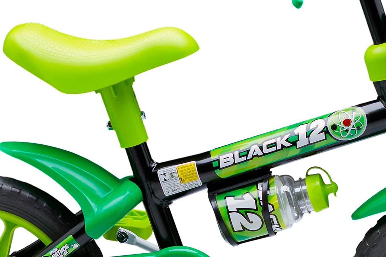 Bicicleta 12 Infantil Black - Nathor