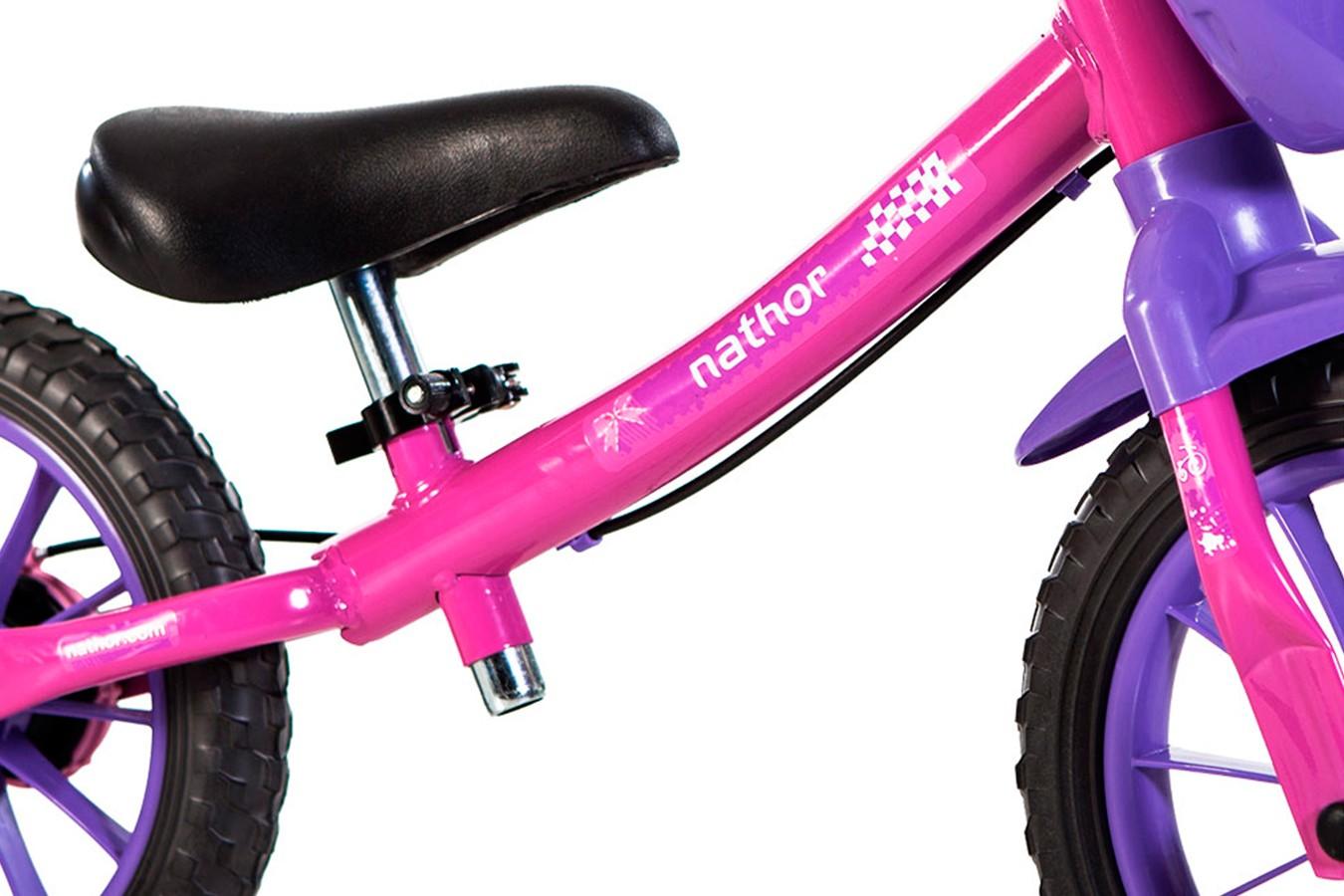Bicicleta 12 Infantil Balance Feminina- Nathor