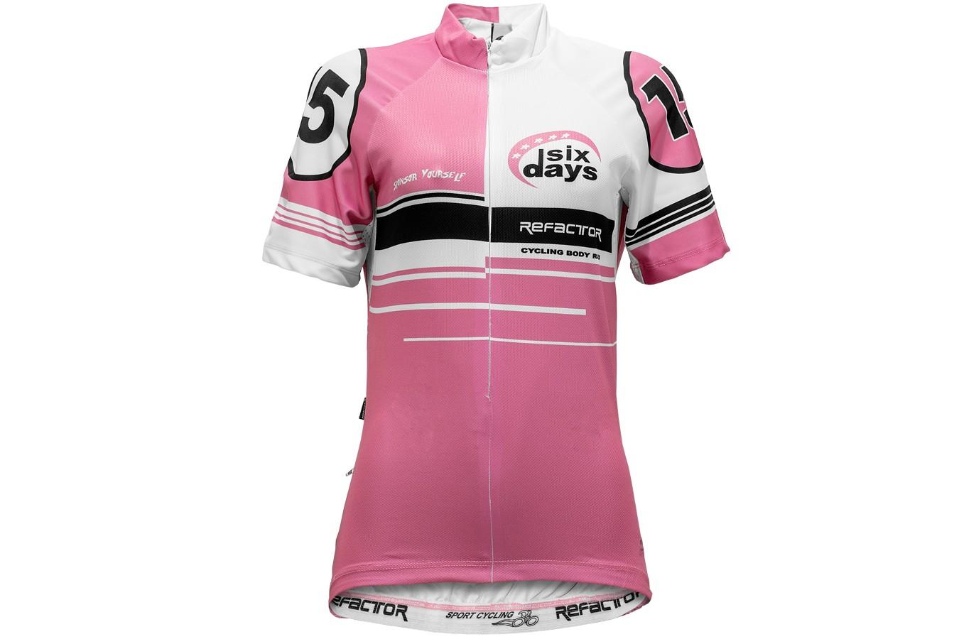 Camisa Ciclista Feminina Number - Refactor Cor Rosa Tamanho Camisa M 22d5206c5e474