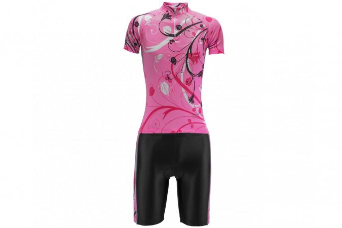 Conjunto Ciclista Feminino Floral - Refactor