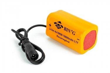 Bateria de Lítio Recarregável para Farol de Bicicleta