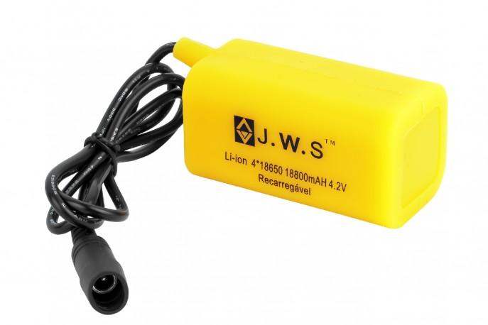 Bateria de Lítio Recarregável Com Entrada Para Farol de Bicicleta