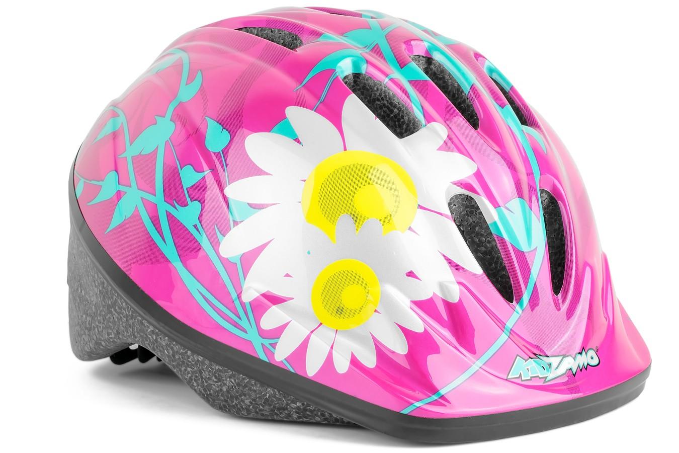 Capacete Ciclista Infantil Flores - Kidzamo