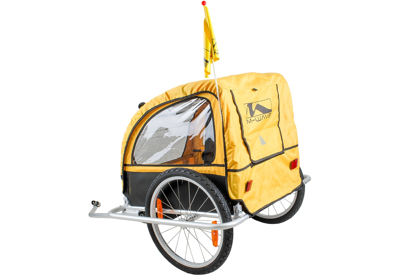 Reboque Transporte Infantil Bike Trailer Com Engate - M-Wave