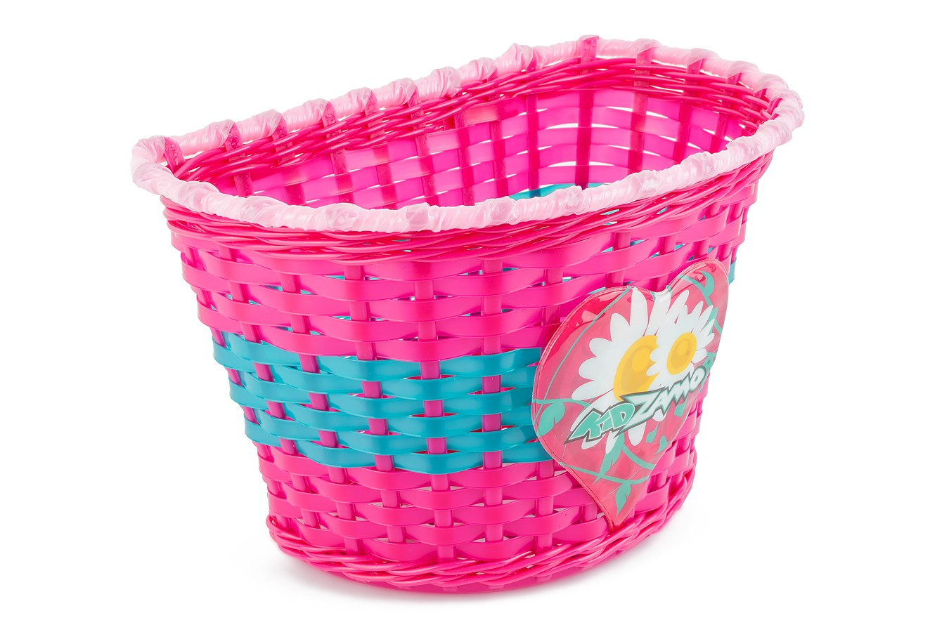 Cesta Infantil Plástico Entrelaçado Flor - Kidzamo