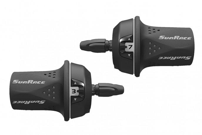 Alavanca de Câmbio Com Cabos Grip Shift Index 21V SR-M21 - Sunrace