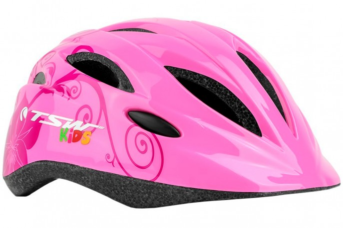 Capacete Ciclista Infantil MTB KIDS New Y-01 Rosa- TSW