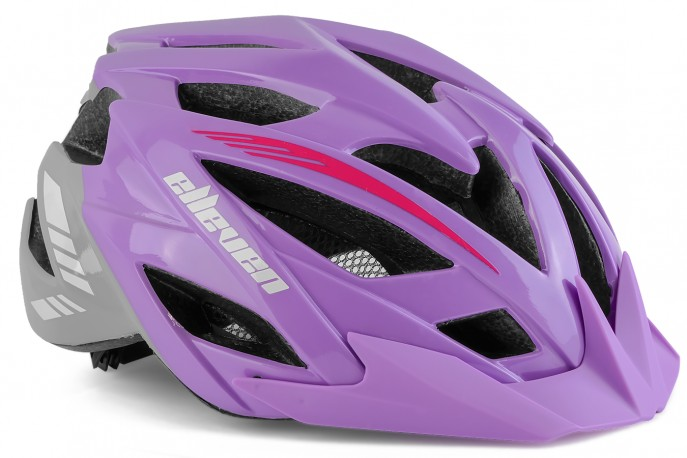 Capacete Adulto Lilás Com Vista Light - Elleven