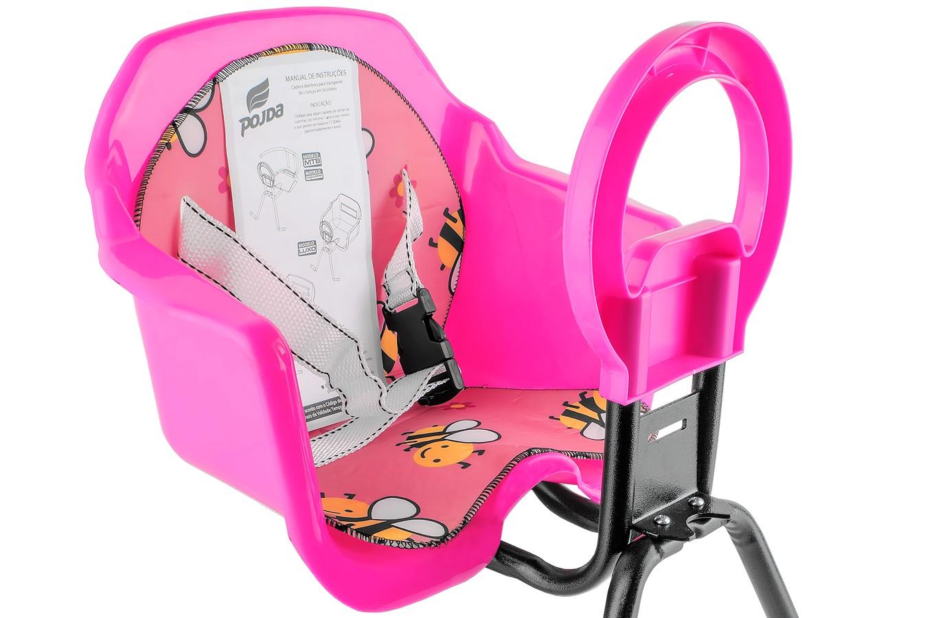 Cadeirinha Dianteira Pink Luxo - Pojda