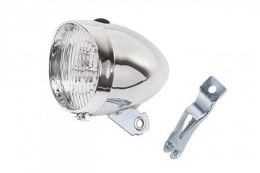 Farol a Pilha com LED Retro Plástico Cromado - Mobele