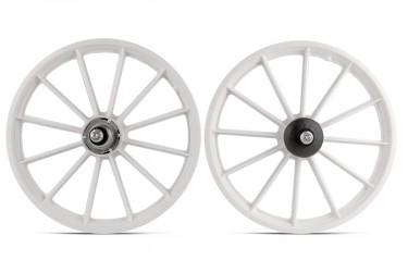 Roda 16 Nylon com Eixo (PAR) White - Wester