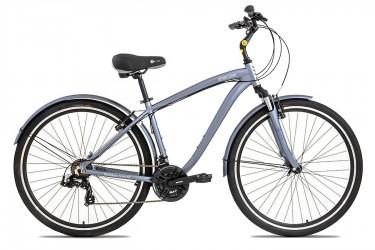 Bicicleta 700 Downtown Masculina 21V Grey - Tito