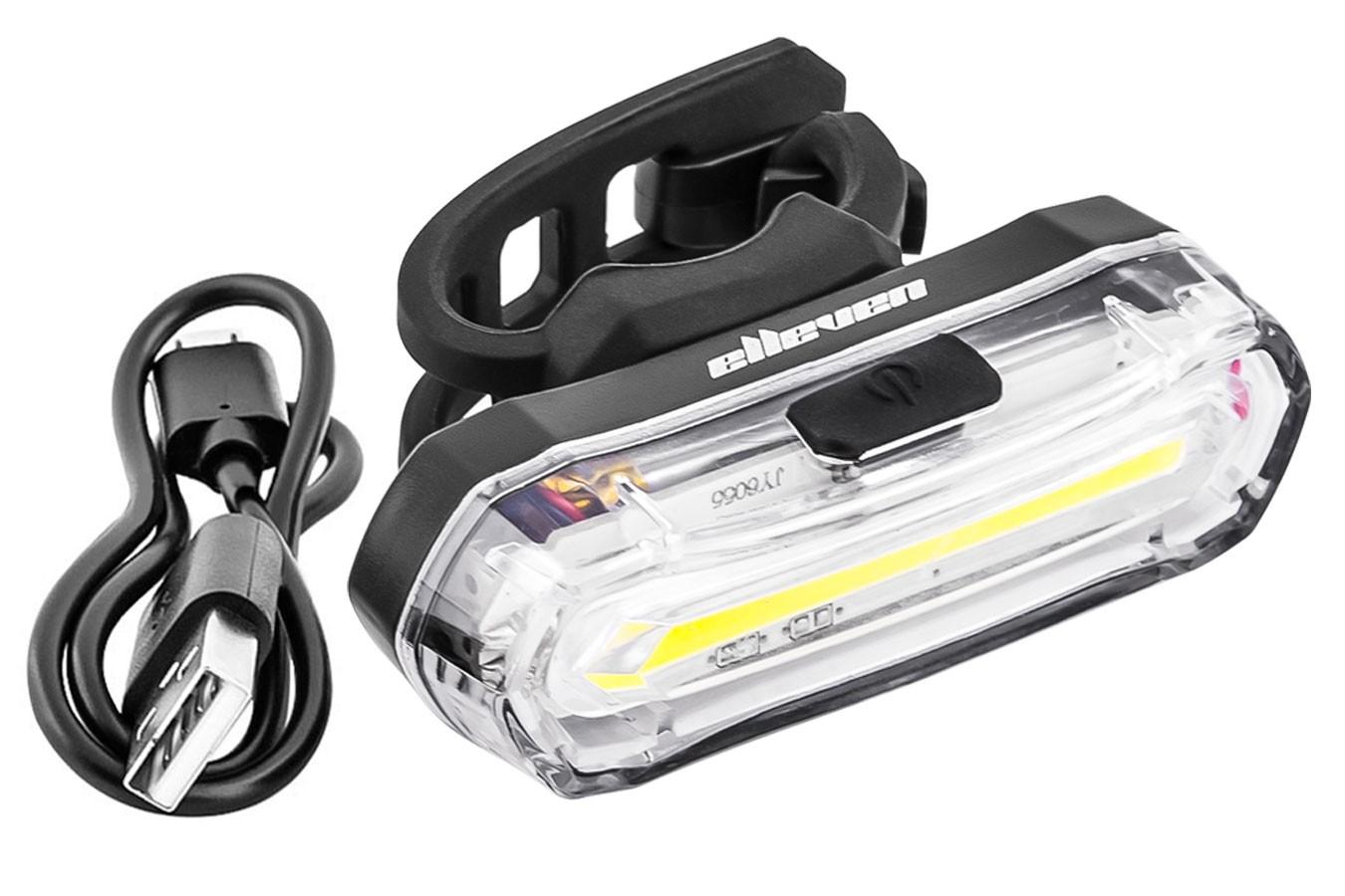 Vista Light dianteiro recarregável com 4 funções super brilho Elleven