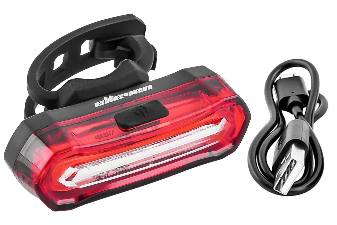 Vista Light traseiro recarregável com 4 funções super brilho Elleven