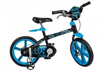 Bicicleta 14 Infantil Pantera Negra - Bandeirante