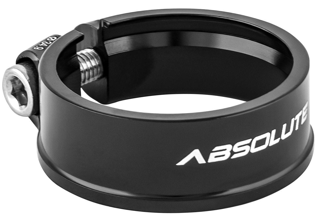 Abraçadeira de selim 34,9 mm em alumínio preta - Absolute