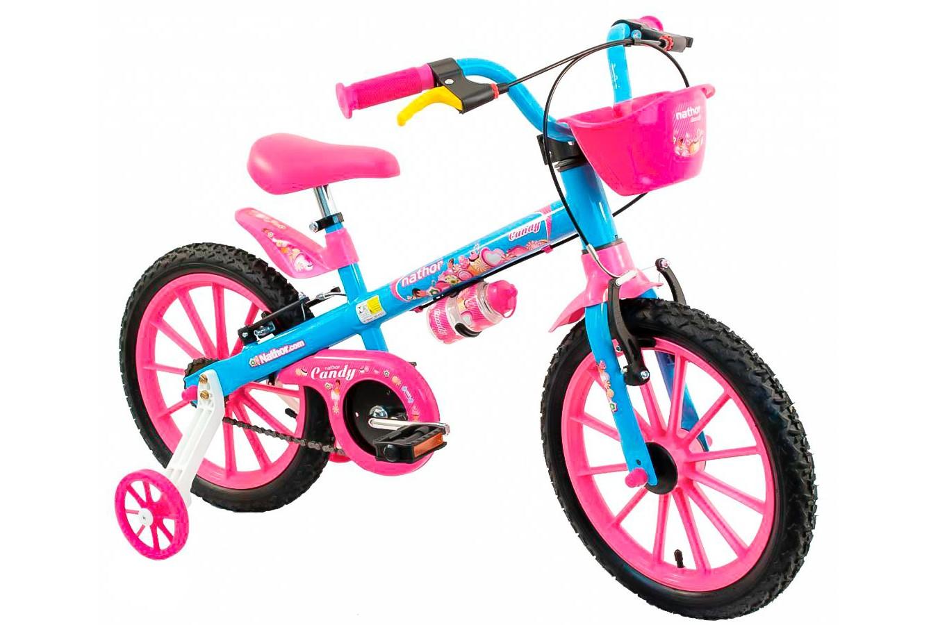 Bicicleta aro 16 Feminina Candy - Nathor