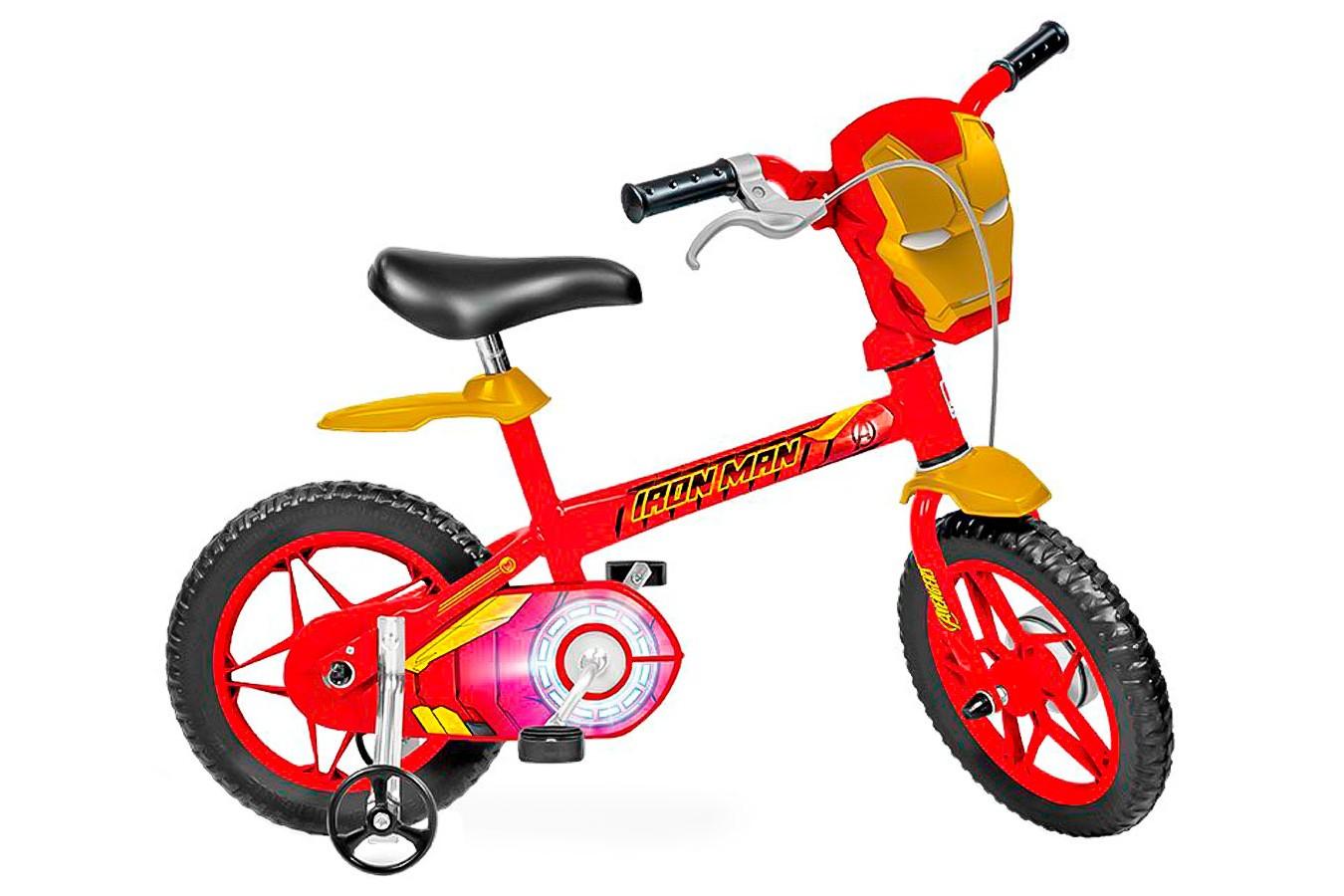 Bicicleta 12 Infantil Homem de Ferro - Bandeirante