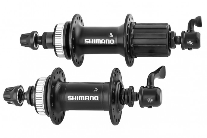 Cubo alumínio com blocagem Shimano K7 8/9 velocidades RM35 Center Lock