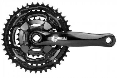 Pedivela com Engrenagem Tripla 24/34/42 Alumínio - Runwell