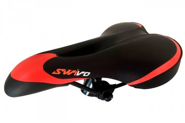 Selim MTB com cavidade preto/vermelho Swivo