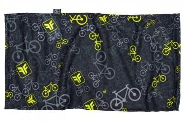 Bandana multiuso Bicycle Preto/Amarelo Free Force