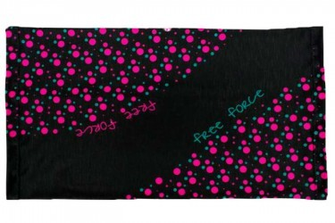 Bandana multiuso Bicycle Preto/Rosa Free Force
