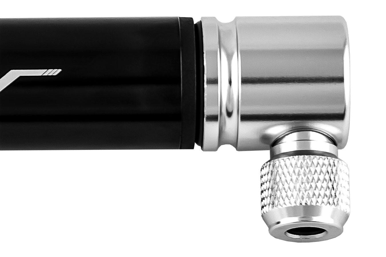 Bomba de ar manual Mini alumínio preta anodizada - TSW