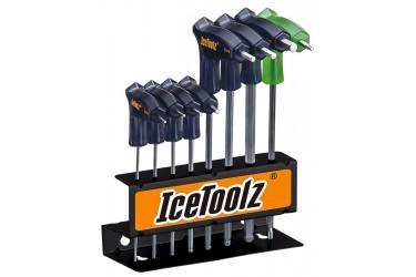 Jogo de Chaves 8 Peças Allen / T25 com suporte de aço Ice Toolz