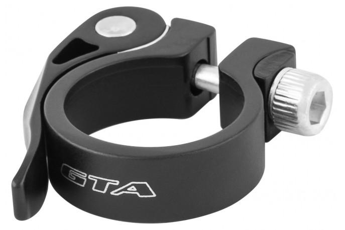 Abraçadeira de selim 35 mm AT148 em alumínio preta - GTA