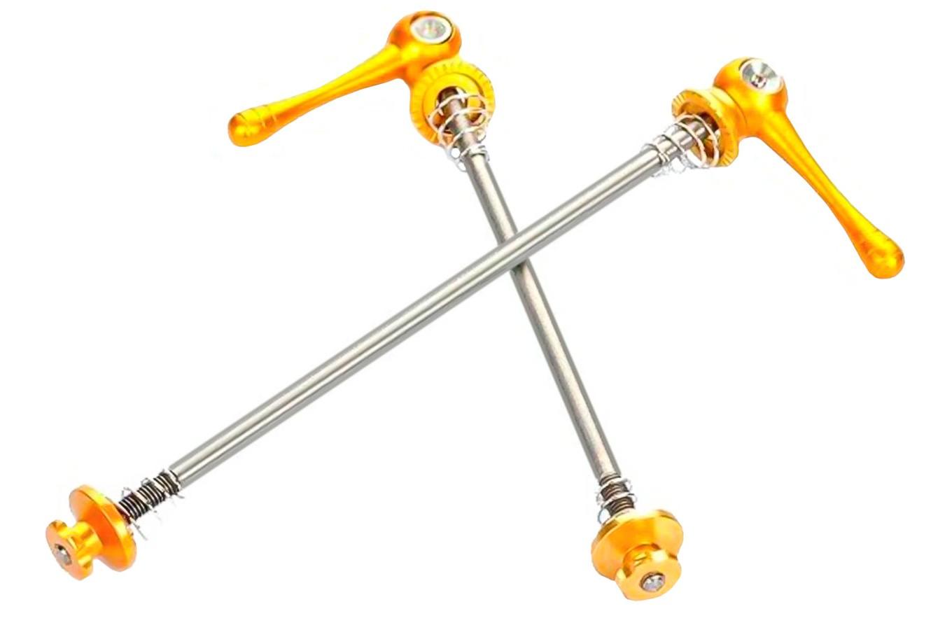 Blocagem eixo alumínio amarelo par TSW