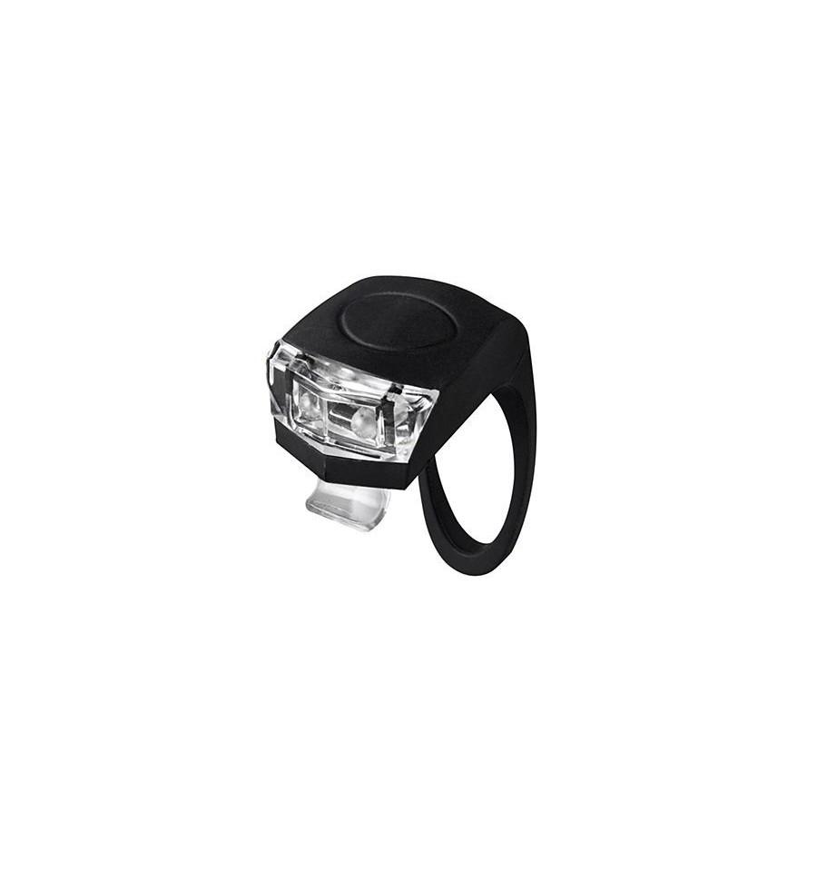 Vista Light Dianteiro Numen mini preta luz branca Giant