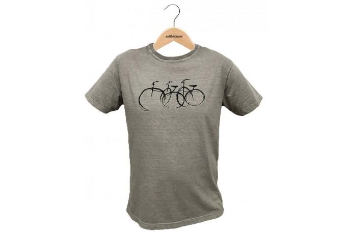 Camiseta Casual Bicicletas Cinza Claro - Elleven