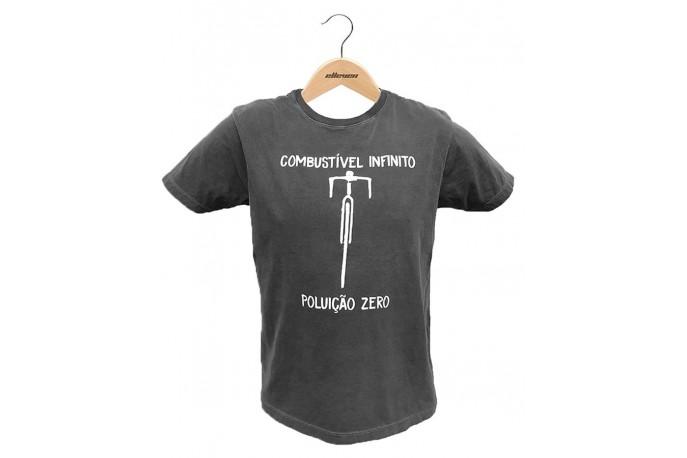 Camiseta Casual Combustível Infinito Cinza Escuro - Elleven