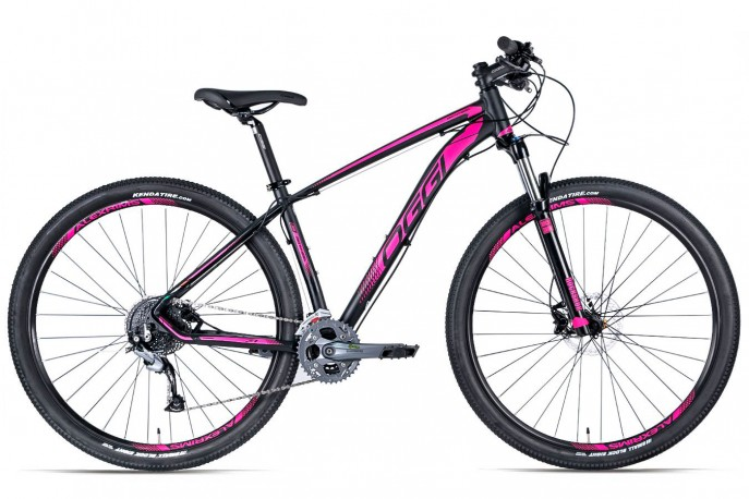 Bicicleta 29 Big Wheel 2019 7.1 preta e rosa 27v Acera - Oggi
