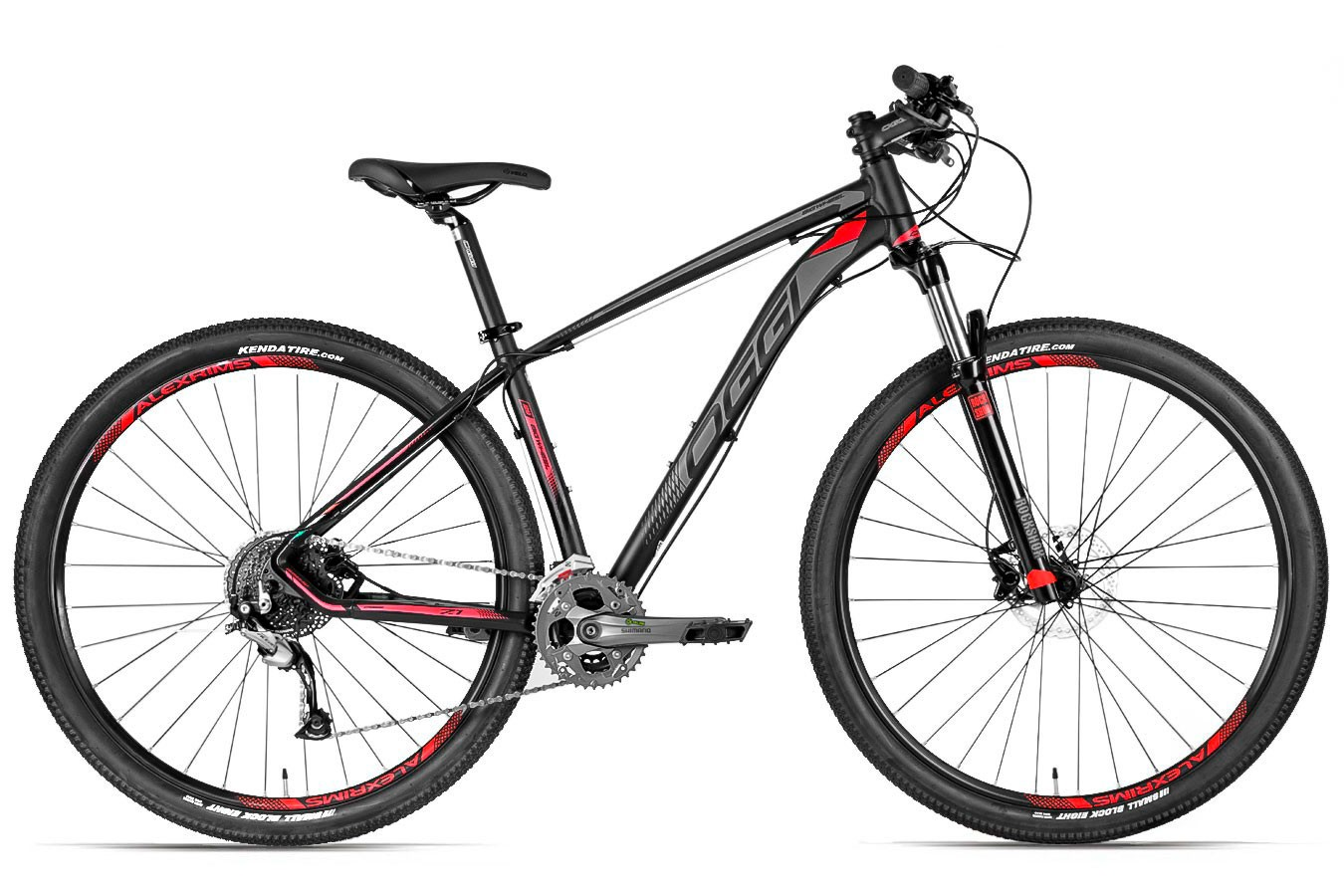Bicicleta 29 Big Wheel 2019 7.1 preta e vermelha 27v Acera - Oggi