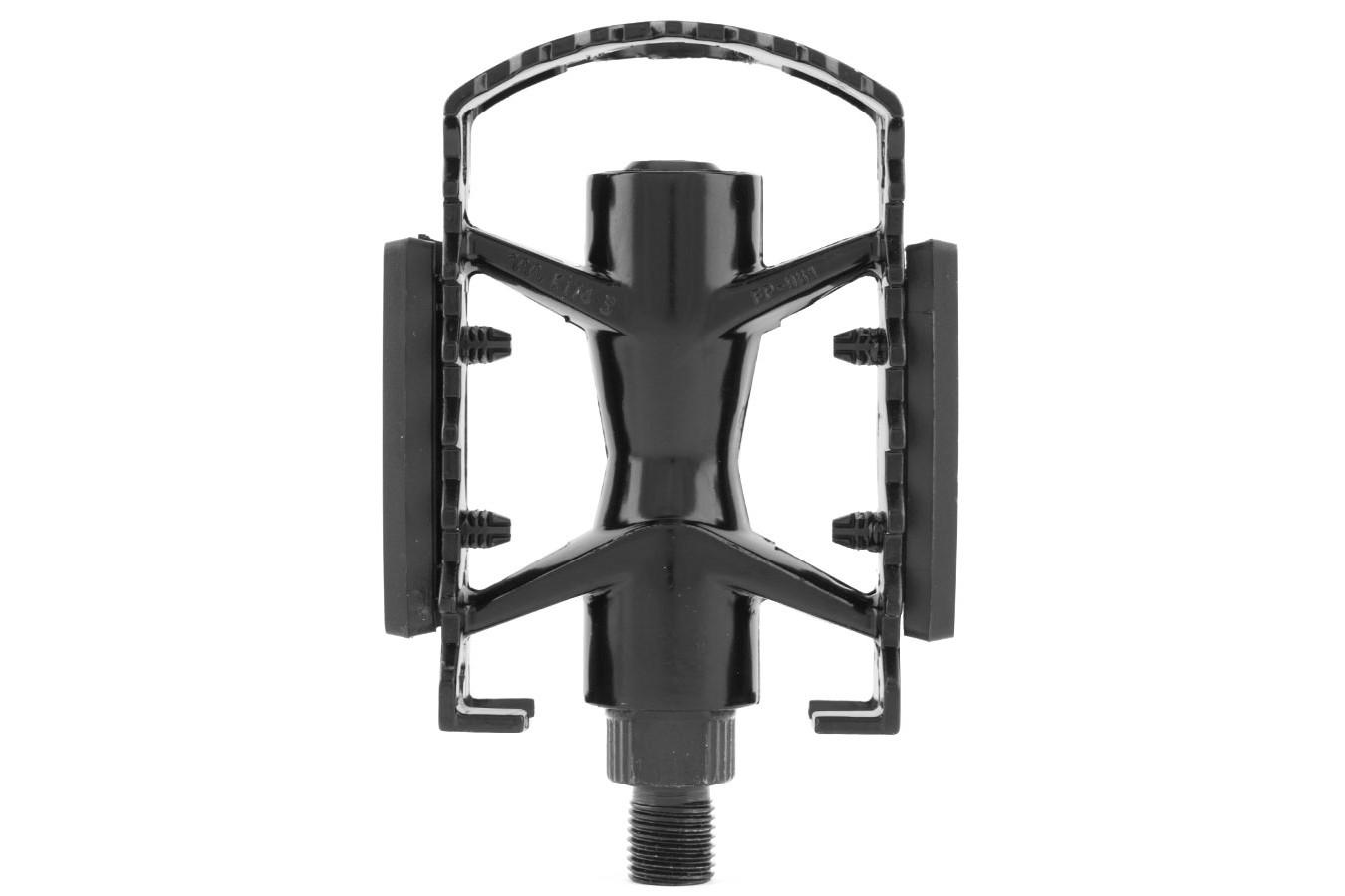 Pedal em Alumínio com Esferas Preto rosca sueca - Feimin