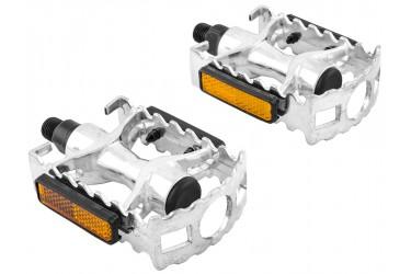 Pedal em Alumínio natural com Esferas rosca sueca - Importado