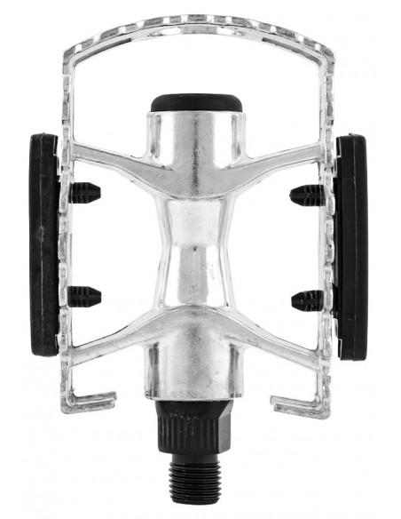 Pedal em Alumínio Natural com Esferas rosca inglesa - Importado
