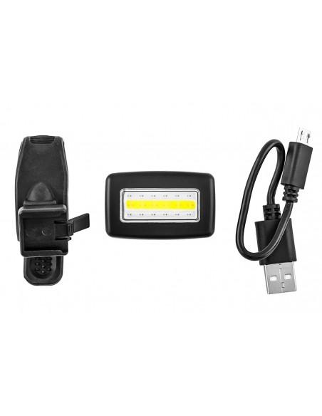 Vista Light USB traseiro COB LED branco e vermelho Elleven