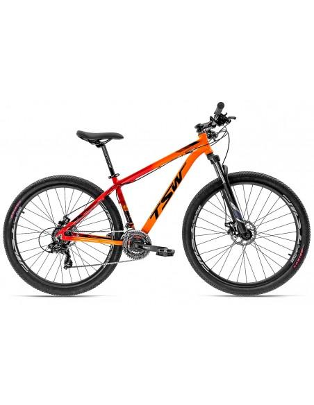 Bicicleta 29 Ride 2019 21V Laranja com vermelho - TSW