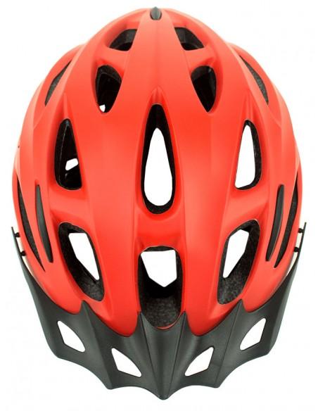 Capacete para ciclista vermelho MTB Walk com LED - TSW